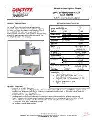 Product Description Sheet 300D Benchtop Robot 12V