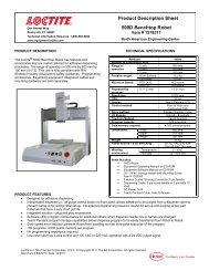 Product Description Sheet 500D Benchtop Robot