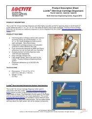 Product Description Sheet Loctite 50ml Dual Cartridge Dispensers