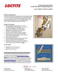 50 ml Dual Cartridge Dispensers Product Description Sheet - Loctite ...