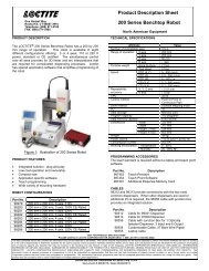 Product Description Sheet 200 Series Benchtop Robot