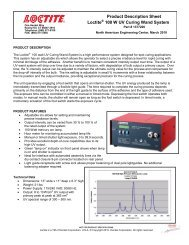 Product Description Sheet Loctite 100 W UV Curing Wand System