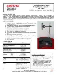 Product Description Sheet Rotary Dispense System