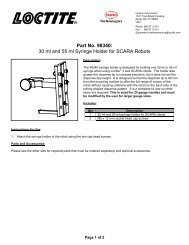 Part No 98340 30 ml and 55 ml Syringe Holder for SCARA Robots