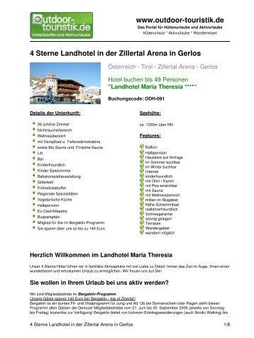 4 Sterne Landhotel in der Zillertal Arena in Gerlos - Outdoor-Touristik