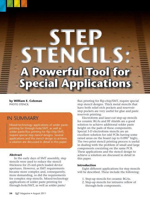 Step Stencils