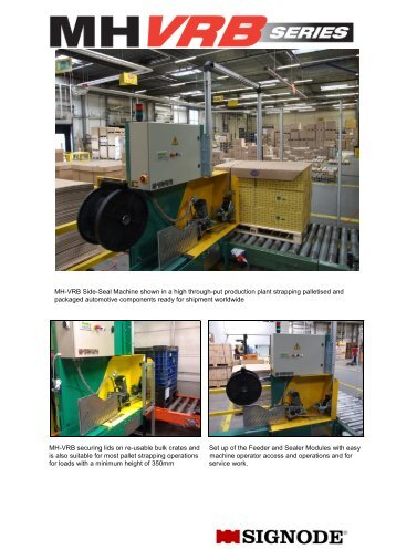 MH-VRB Pallet Strapping Machine - Signode