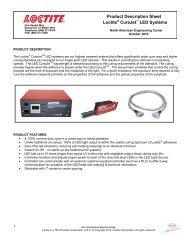 Product Description Sheet Loctite CureJet LED Systems