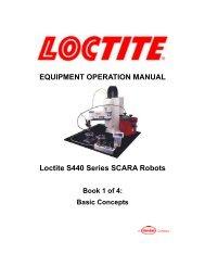 EQUIPMENT OPERATION MANUAL Loctite S440 Series SCARA Robots
