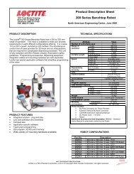 Product Description Sheet 300 Series Benchtop Robot
