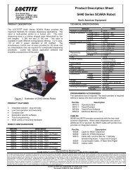 Product Description Sheet S440 Series SCARA Robot