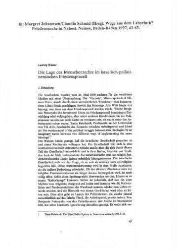 In: Margret J'ohannsen/Claudia Schmid (Hrsg ... - Ludwig Watzal