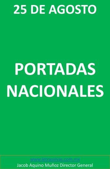 PORTADAS NACIONALES 25 DE AGOSTO