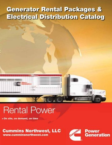 Generator Rental Packages & Electrical Distribution Catalog