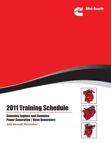 2011 Training Schedule