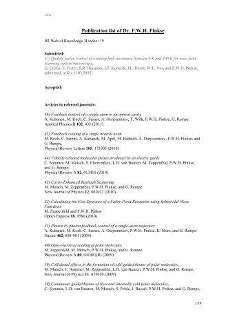 a list of publications - Universiteit Twente