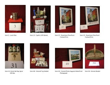 2013 Silent Auction Item Photographs - Old Fort Western