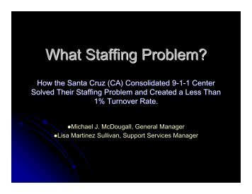 What Staffing Problem?