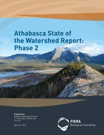 Athabasca State of the Watershed Report Phase 2