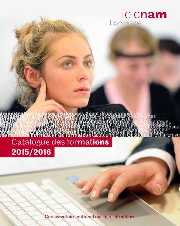 Catalogue des formations 2015/2016