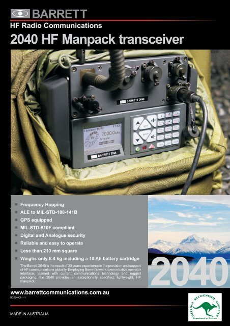 2040 HF Manpack transceiver
