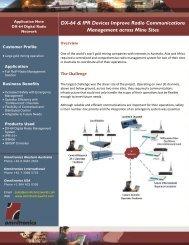 DX-64 & IPR Devices Improve Radio Communications Management across Mine Sites