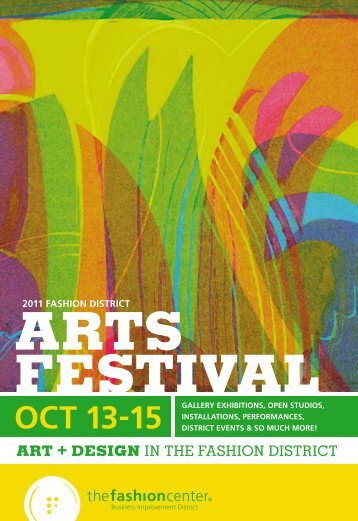 Arts FestivAl cAlenDAr - The Fashion Center