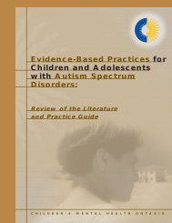 Evidence-Based Practices for Children and Adolescents with Autism ...