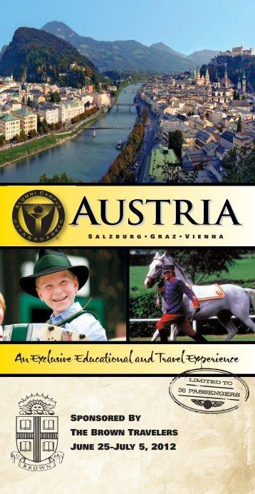 AUSTRIA - Brown Alumni Association - Brown University