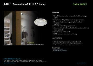 U-TEL Dimmable AR111 LED Lamp