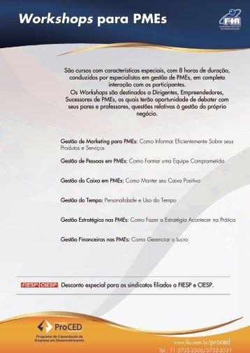 Workshops para PMEs
