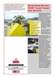 Bavak Road Blocker STHH Crash Tested PAS 68 (K12) - Finnpark
