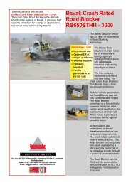 Bavak Crash Rated Road Blocker RB650STHH - 3000 - Finnpark