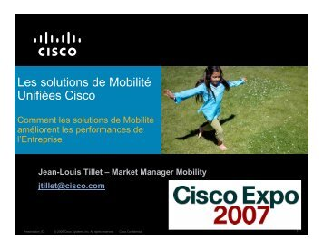 Les solutions de Mobilité Unifiées Cisco