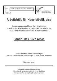 Arbeitshilfe für Haus(bibel)kreise Band 1: Das Buch Amos - SELK