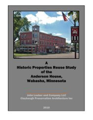 Historic Properties Reuse Study of the Anderson ... - City of Wabasha