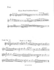 Honor Band Audition Scales