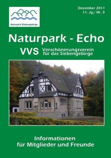 Aus der Geschichte des VVS - Naturpark Siebengebirge