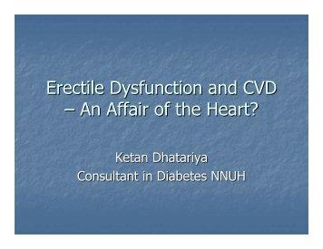 Erectile Dysfunction and CVD – An Affair of the Heart?
