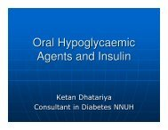 Oral Hypoglycaemic Agents and Insulin