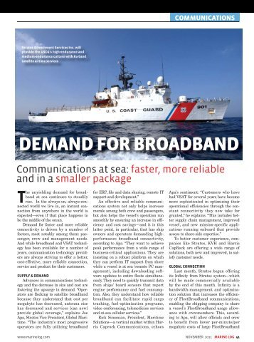 DEMAND FOR BROADBAND