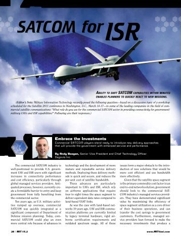 Satcom for ISR - Harris CapRock