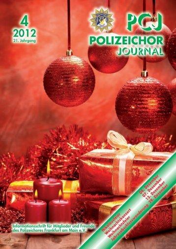 PCJ 2012 - IV. Quartal - Polizeichor Frankfurt am Main eV