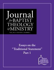 "Essays on the ""Traditional Statement"" Part 1"