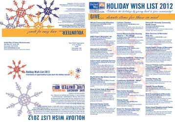 HOLIDAY WISH LIST 2012
