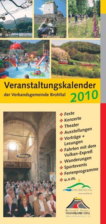 Veranstaltungskalender - Verbandsgemeinde Brohltal
