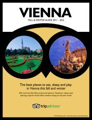 The best places to eat, sleep and play in Vienna this ... - TripAdvisor