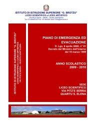 PIANO DI EMERGENZA ED EVACUAZIONE - Liceo Brotzu