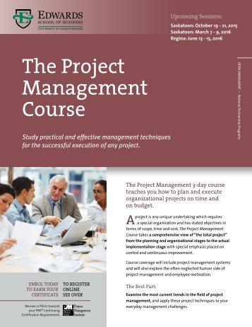 The Project Management Course