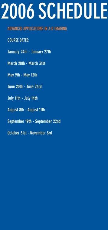 2006 Schedule